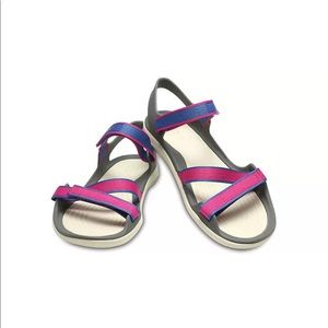 a4354512cd64c Crocs Womens Swiftwater Webbing Sandal size w11 NWT